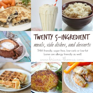 Twenty 5-Ingredient Meals, Side Dishes, and Desserts {Roundup}