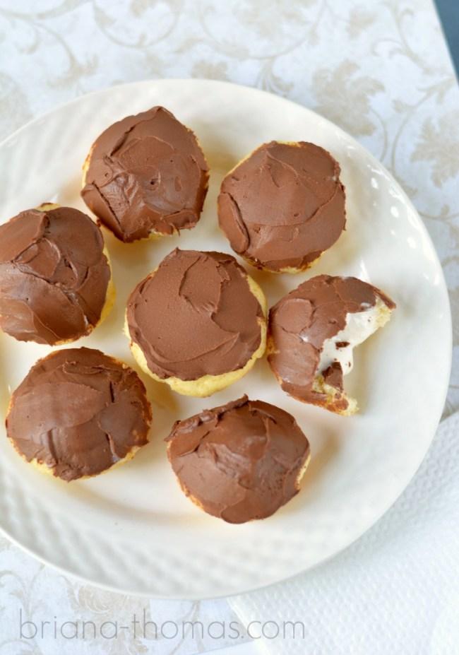 Boston Creme Mini Muffins