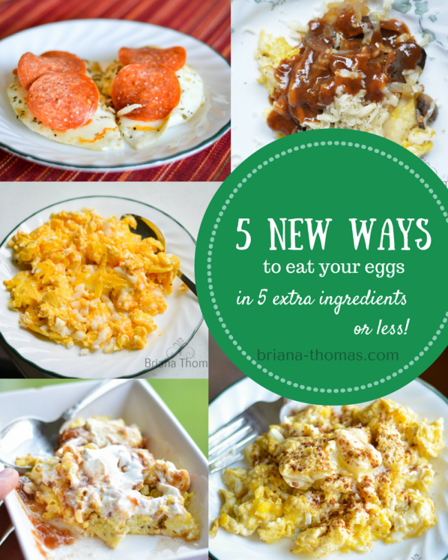 5 New Ways to Eat Your Eggs in 5 Extra Ingredients or Less