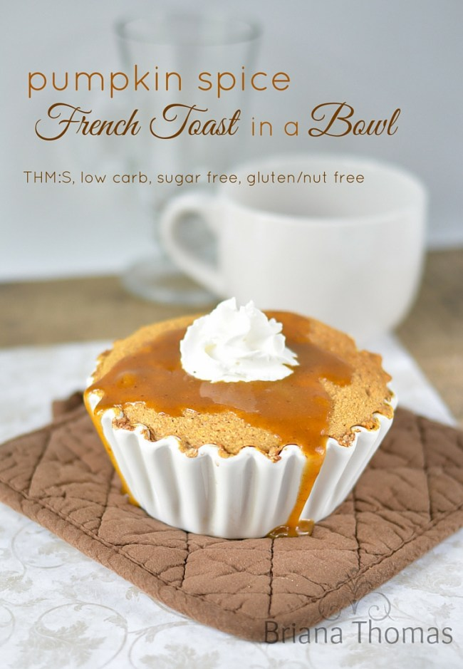 Pumpkin Spice French Toast in a Bowl