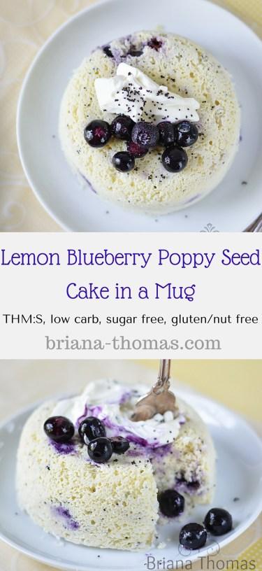Lemon Blueberry Poppy Seed Cake in a Mug