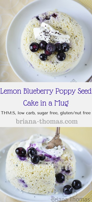Lemon Blueberry Poppy Seed Cake in a Mug