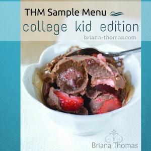 Sample Menu: College Kid Edition