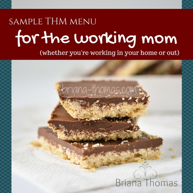 THM Sample Menu for the Working Mom