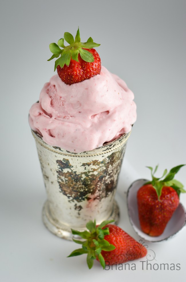Classic Strawberry Ice Cream