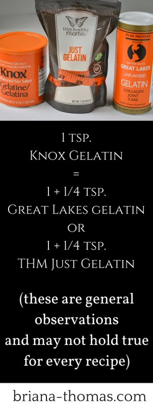 The Great Gelatin Comparison Ratio