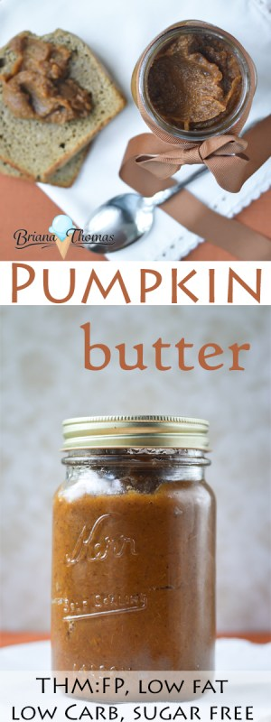 This versatile Pumpkin Butter is one of my favorite fall condiments! THM:FP, low carb, low fat, sugar free, gluten/egg/dairy/nut free