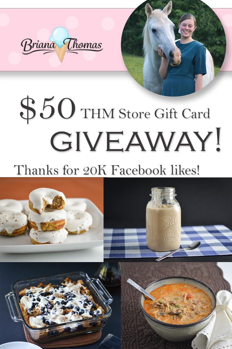 $50 THM Store Gift Card Giveaway - 20K Facebook Likes!