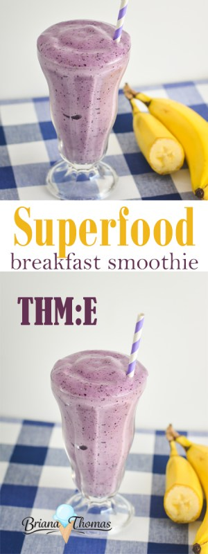 This Superfood Breakfast Smoothie includes a healthy dose of okra and fruit - THM:E, low fat, no sugar added, gluten/egg free with nut free option
