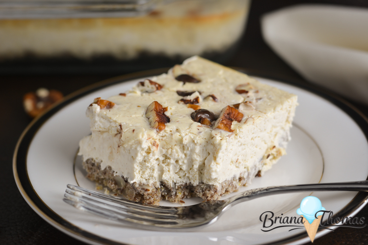 These Pecan Pie Cheesecake Bars are THM:S, low carb, sugar free, and gluten free. The perfect combination of pecan pie and cheesecake!
