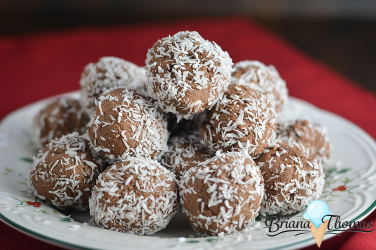 These Easy Chocolate Cake Truffles are silky smooth. THM:S, low carb, sugar free, and gluten/egg/nut free! Perfect healthy holiday candy!