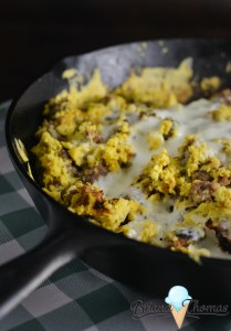 Skillet Sausage and Cornbread Supper