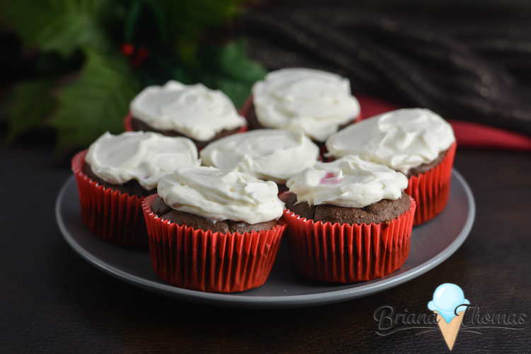 These easy Chocolate Peppermint Cupcakes are THM:S, low carb, sugar free, and gluten/nut free! They taste normal - but they're not loaded with sugar!