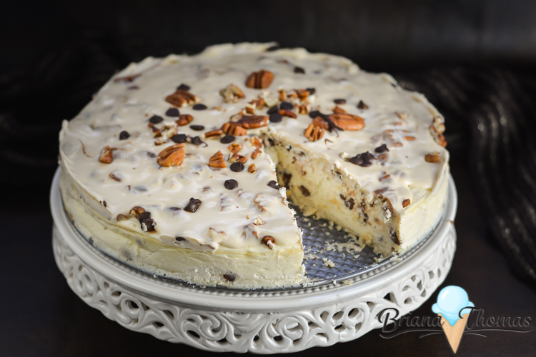 This Amazing Turtle Cheesecake has a thick layer of caramel topping along with chopped pecans and chocolate chips! THM:S, low carb, sugar free, gluten free