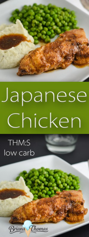 This Japanese Chicken is a healthy take on a classic. Your family will love it! THM:S, low carb, sugar free, gluten/dairy/nut free