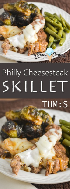 This Philly Cheesesteak Skillet is easy to throw together for a family-pleasing supper! THM:S, low carb, gluten/egg/nut free