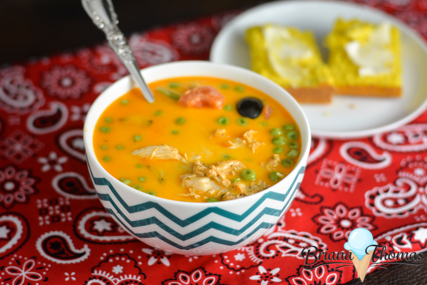 This Easy Cheesy Fiesta Chowder is made in the crockpot and comes together in a jiffy! No special ingredients needed! THM:S, low carb, gluten/egg/nut free