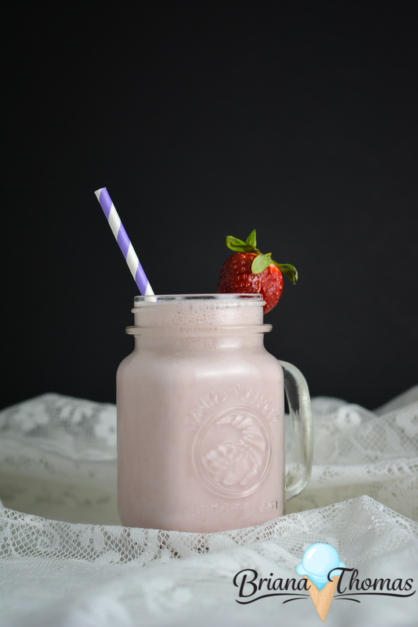 This yummy Strawberry Milk is the perfect light single-serve snack! Plenty of protein! THM:FP, low carb, low fat, sugar free, gluten/egg/nut free