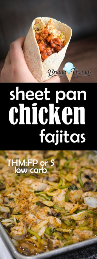 These easy Sheet Pan Chicken Fajitas don't take any special ingredients and are a super versatile meal! THM S, E, or FP, and allergy friendly!
