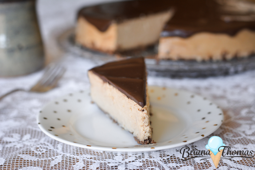 This Peanut Butter Chocolate Cheesecake makes an amazing dessert for special occasions - like Easter! THM:S, low carb, sugar free, gluten free