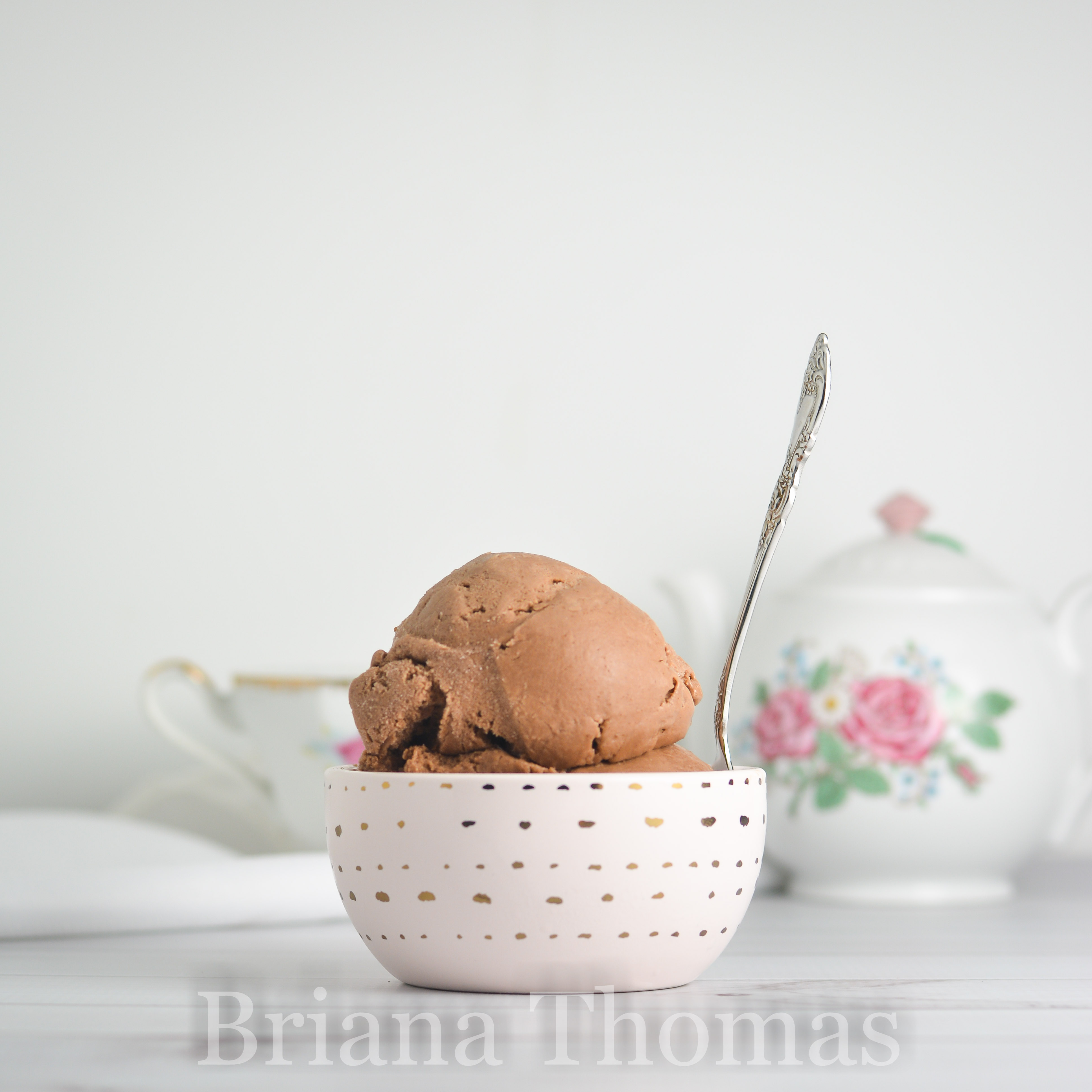 This delicious Dairy-Free Light Chocolate Ice Cream is smooth and creamy and more of a milk chocolate than dark chocolate. THM: Deep S, low carb, sugar free