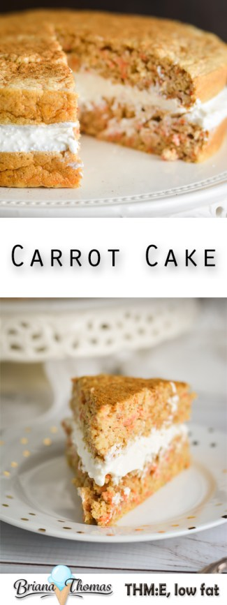 This unique carrot cake can be used for breakfast, snack, or dessert! It's actually a THM:E recipe. Low fat, gluten/nut free