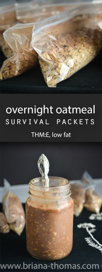 When I'm on trips, I often make overnight oatmeal survival packets to take with me so I know I'll at least start the day off right in the food department!