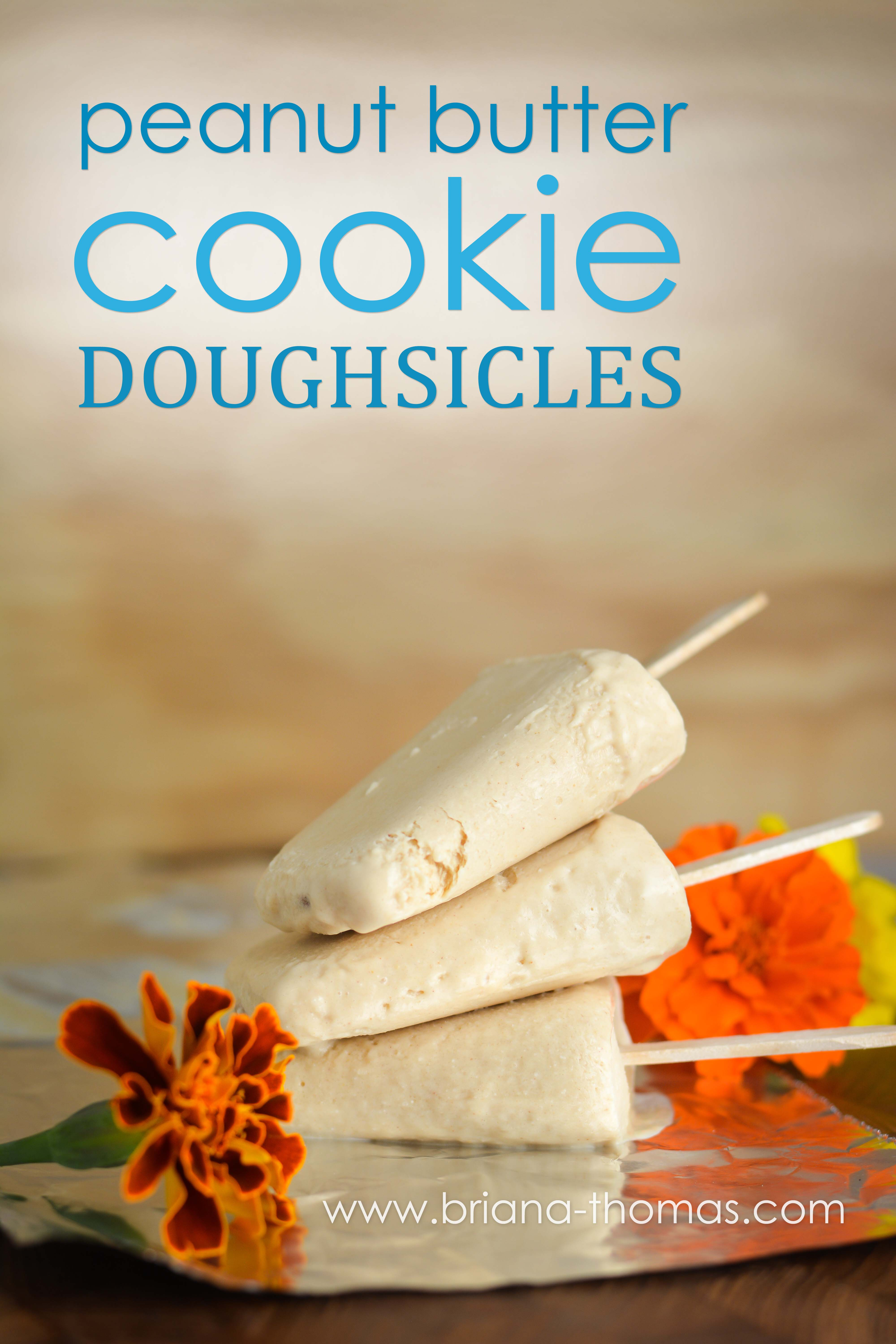 These low-carb Peanut Butter Cookie Doughsicles have a great creamy texture but are actually a light snack/dessert! THM:S, sugar free, gluten/egg free