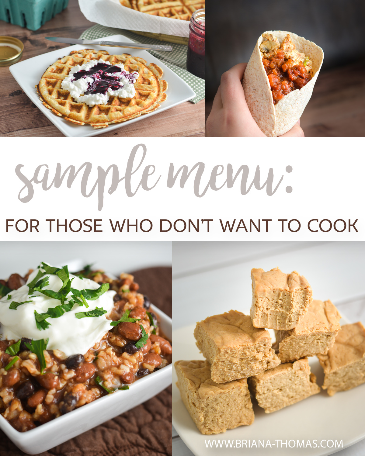 I was recently asked to come up with a THM-friendly sample menu for those who don't want to cook - so here's the result! Low glycemic, sugar free recipes