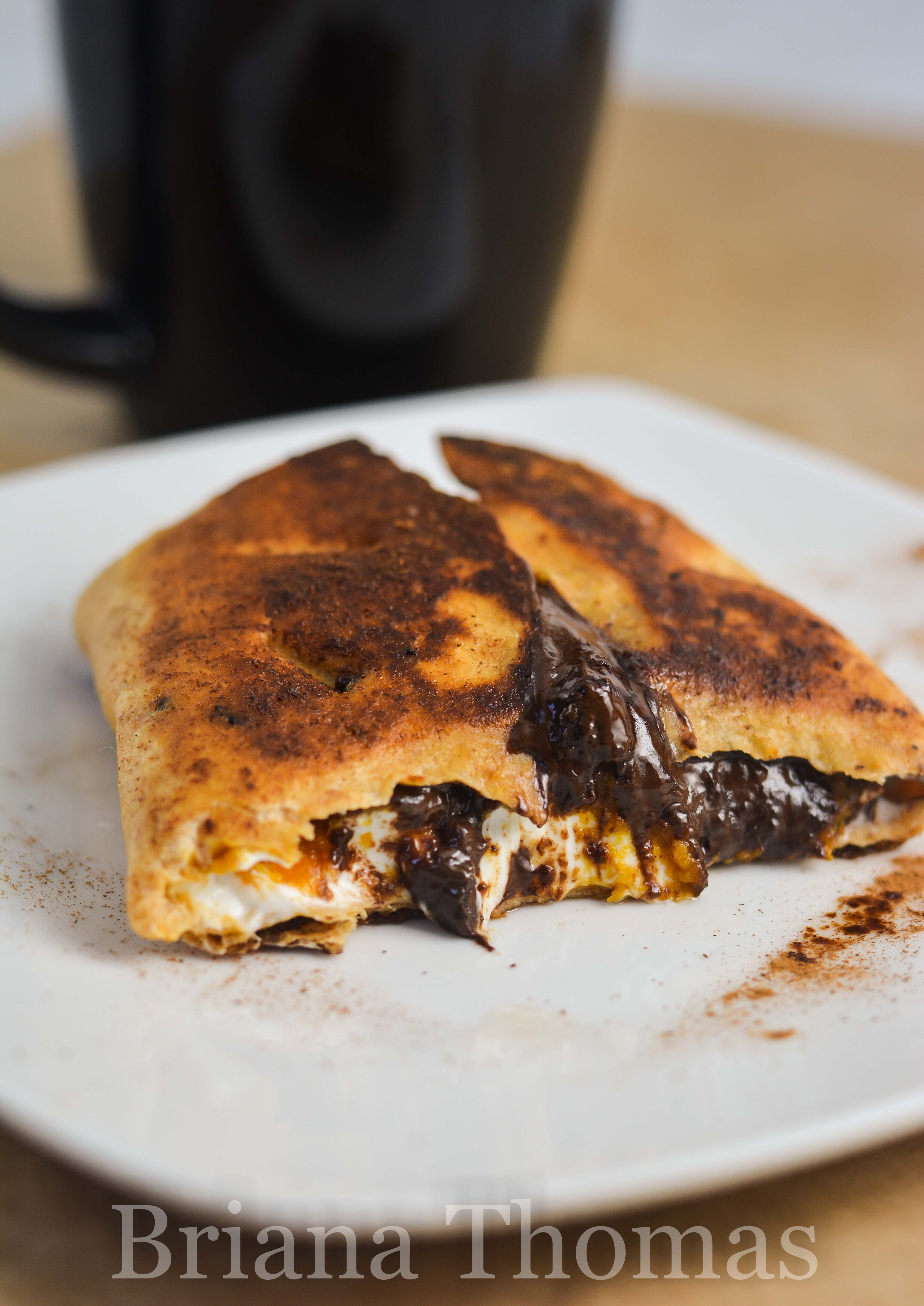This Creamy Pumpkin Chocolate Fried Taco is melt-in-your-mouth delightful from beginning to end! THM:S, low carb, sugar free