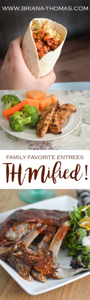 I asked for your suggestions, and you gave them! Check out this list for my tips on how to make your family favorite entrees THMified!