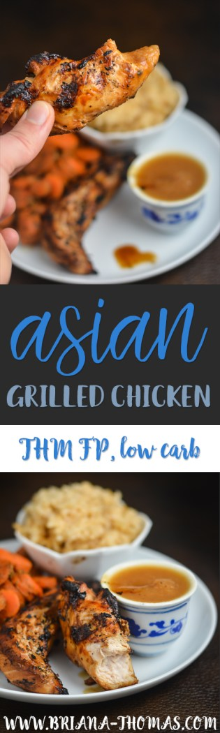 This Asian Grilled Chicken packs a powerful flavor but only takes a few ingredients! THM Fuel Pull, low carb, low fat, sugar free, gluten/egg/dairy/nut free