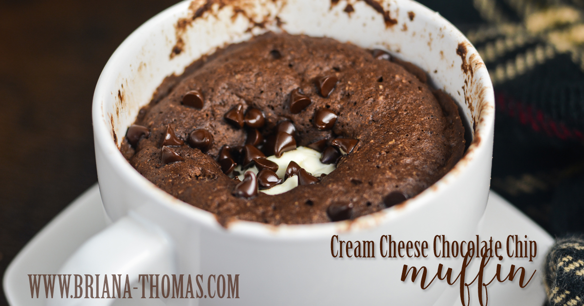 Cream Cheese Chocolate Chip Muffin - Briana Thomas - Low Carb, THM S