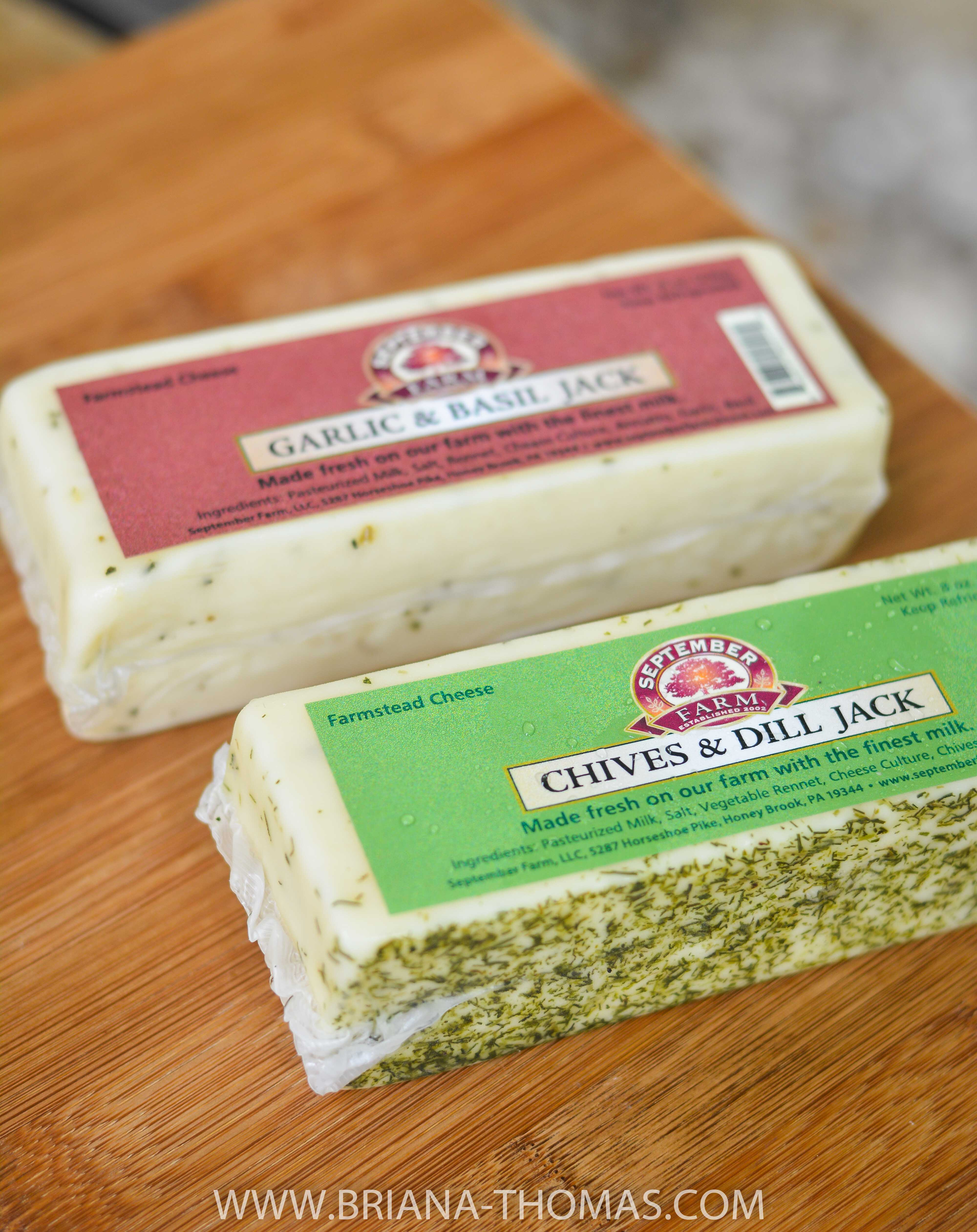 Jack cheeses from September Farm Cheese in Honey Brook, PA