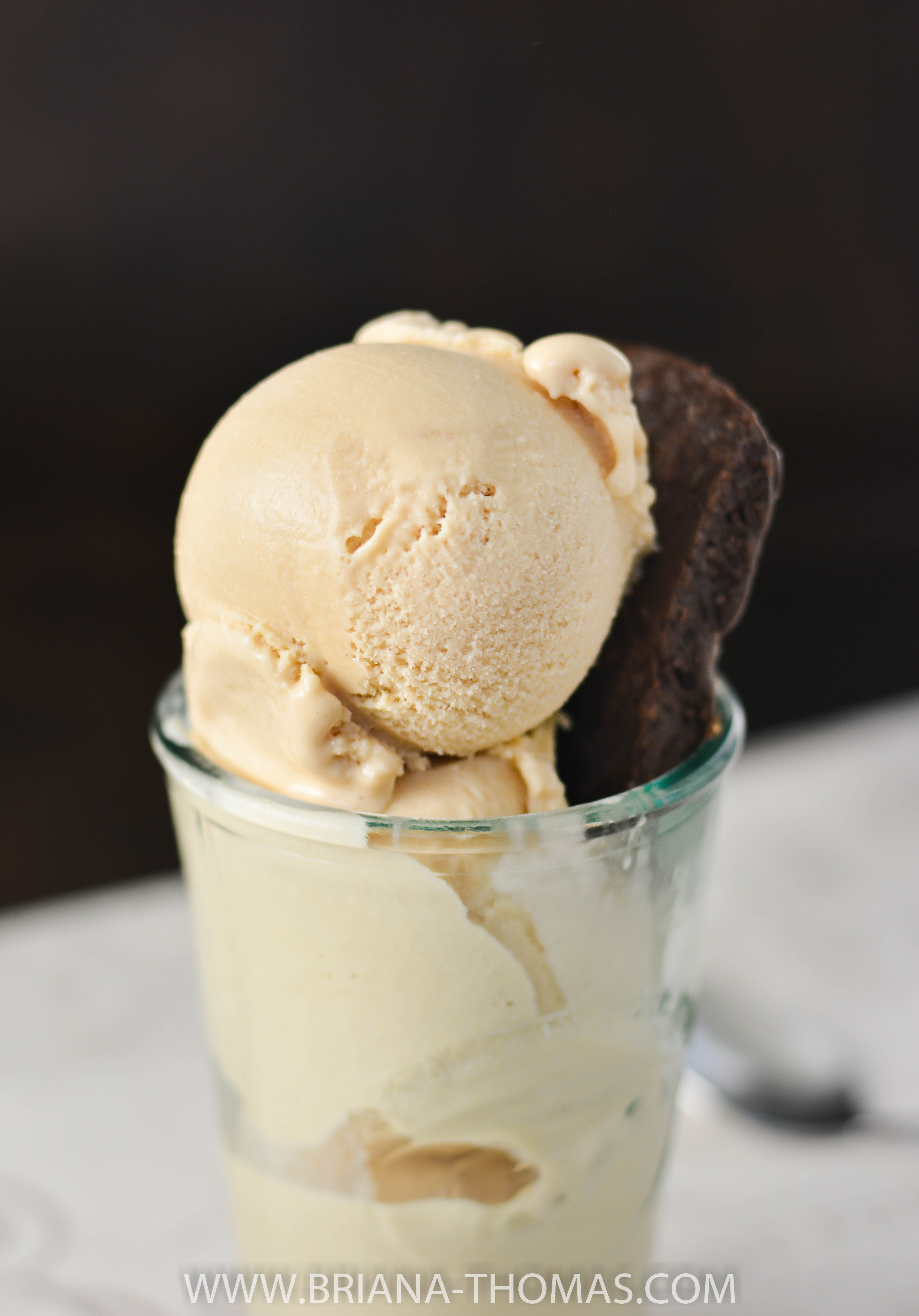 This Angelic Peanut Butter Cookie Dough Ice Cream is my sugar-free version of Halo Top! Each half cup serving contains only 84 calories! THM FP, gluten free