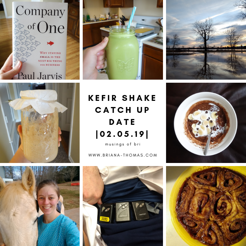 My much-needed December blogging break turned into a January break too, but I'm feeling the writing itch again. Let's catch up over a kefir shake!