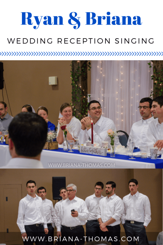 Ryan & Briana: Wedding Reception Singing - a cappella singing from Briana and Ryan's simple Mennonite wedding - www.briana-thomas.com