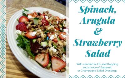 Spinach, Arugula & Strawberry Salad