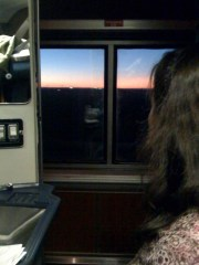 Sunrise from Our Room on the Train