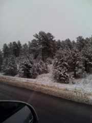 Snow on the way to Castle Rock