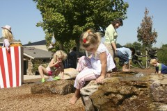 Jameson and Katie Beth having fun at Huntsville Botanical Garden