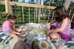 Katie Beth, Karen, and their Pancakes