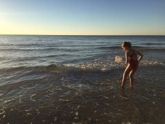 Playing in the Water at Orange Beach Alabama