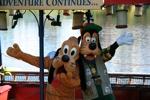 Pluto and Goofy