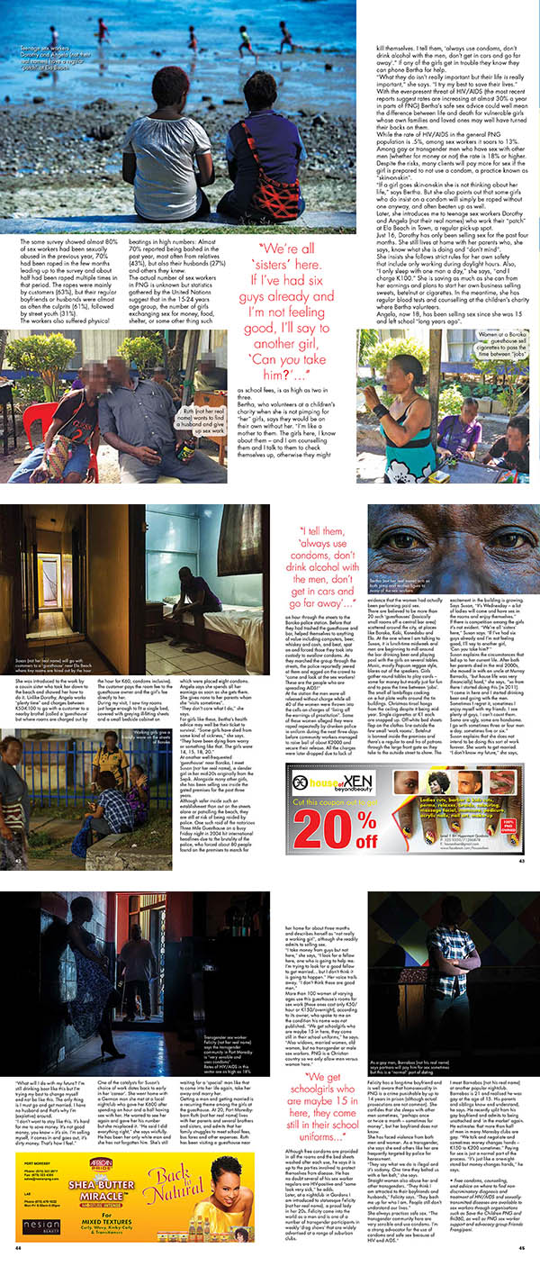 Lily Magazine article on Sex in Papua New Guinea - words and images by Brian Cassey