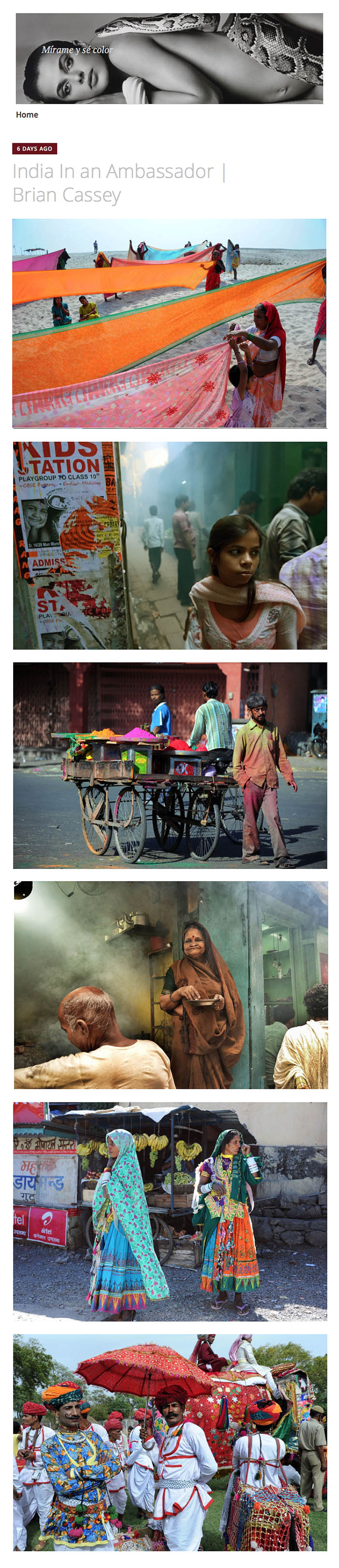Masters of Photography - Brian Cassey - India in an Ambassador