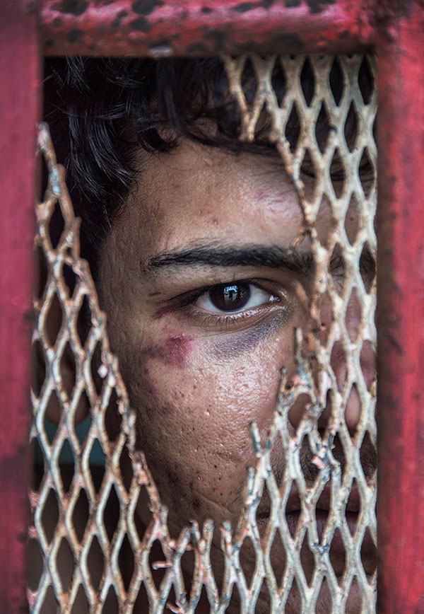Manus Island asylum seeker detention - Lorengau police cell - pic by Brian Cassey