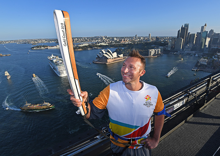 Queen's Baton Relay 2018 - Sydney Harbour Bridge - Ian Thorpe - Brian Cassey & GOLDOC