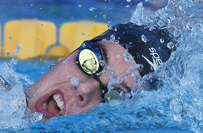 Pan Pacific Para Games - Aurelie Rivard - World record 400 metre freestyle - image by Brian Cassey