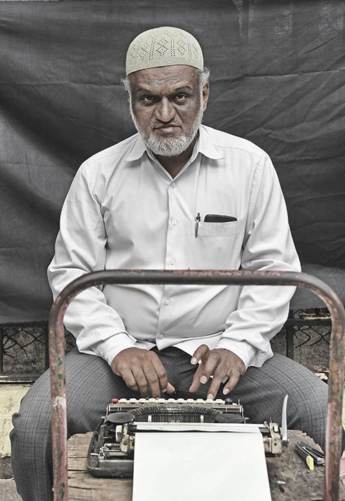 """Typewriter Wallahs of Mumbai - pic essay by Brian Cassey photographer Cairns Australia"